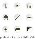 war, icon, vector 28688556