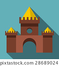 castle, icon, vector 28689024