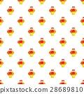 Bouquet in a basket pattern, cartoon style 28689810