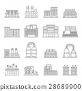 Industrial building icons set, outline style 28689900