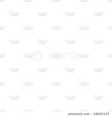 White plate pattern, cartoon style 28690195
