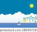 리조트, 요트, 바다 28690728