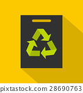 Recycling icon, flat style 28690763