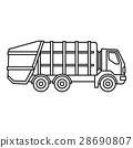 垃圾車 ICON 圖示 28690807
