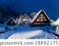 shirakawa-go, shirakawago, having a steep thatched rafter roof 28692175