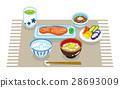 早餐套餐供應日式料理午餐墊 28693009