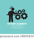 Factory Accidents Black Symbol Vector Illustration 28695820