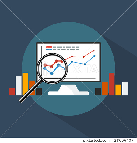 Concept banner of business analytics. 28696407