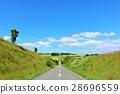 blue sky, summer weather, hokkaido 28696559