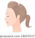 여성, 얼굴, 스킨 케어 28697037