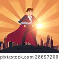 Superhero businessman concept.vector illustration. 28697209