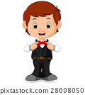Young handsome waiter standing 28698050