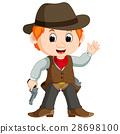 Funny cartoon cowboy 28698100