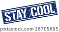 stay cool square grunge stamp 28705695