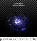 Image of galaxies, nebulae, cosmos,  effect tunne 28707182