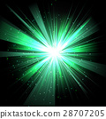 Star with rays white green in space isolated  28707205