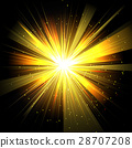 Star with rays white yellow in space isolated  28707208