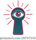 钥匙孔 眼睛 目光 28707334