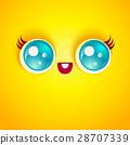 vector cartoon face 28707339