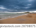 Coast in Italy, Gargano at stormy weather 28708075