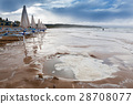 Coast in Italy, Gargano at stormy weather 28708077