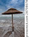 Coast in Italy, Gargano with parasol 28708078