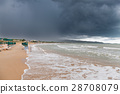 Coast in Italy, Gargano at stormy weather 28708079