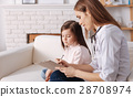 Professional doctor giving prescription for little 28708974