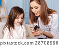 Professional nice doctor giving pills to he little 28708996