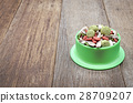 Hamster food on wooden table  28709207