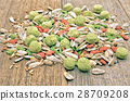 Hamster food on wooden table  28709208