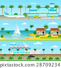 Summer Cruise Vacation Banners 28709234