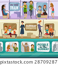 banner, set, subway 28709287