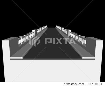 Bridge. Isolated on black background.  28710191