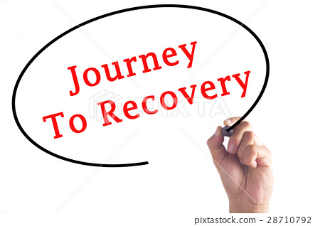 Hand writing Journey To Recovery  28710792