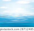 Vector blue sea  and sky  background. 28712485