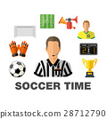 Soccer Flat Icon Concept 28712790