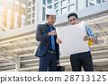 businessman worker handshaking on construction  28713125