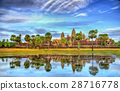 Angkor Wat seen across the lake, a UNESCO world 28716778