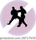 karate, silhouette, sport 28717039