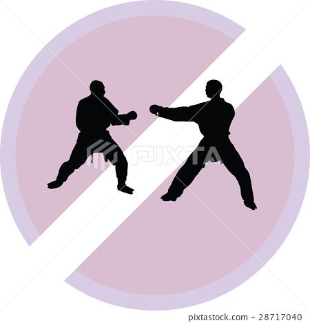 Karate silhouette vector 28717040