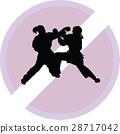 karate, silhouette, sport 28717042