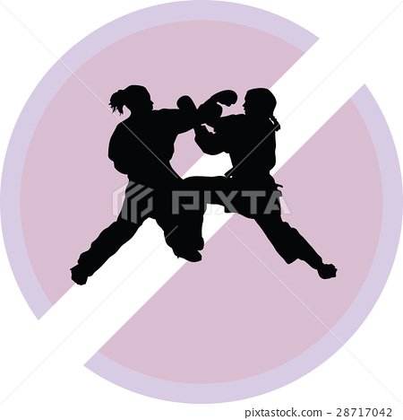 Karate silhouette vector 28717042