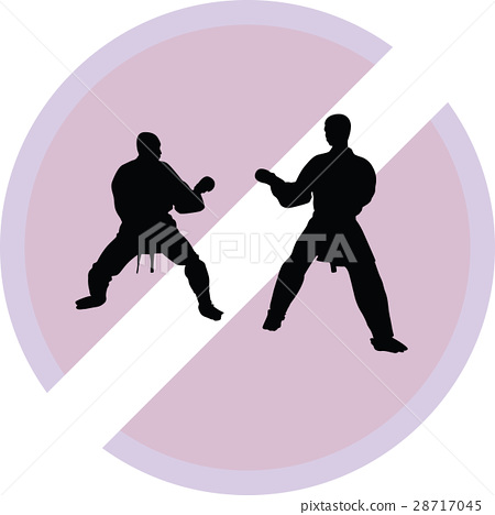 Karate silhouette vector 28717045