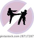 taekwondo woman silhouette vector 28717287