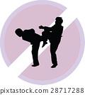 taekwondo woman silhouette vector 28717288