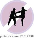 taekwondo woman silhouette vector 28717298