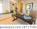 Interior Office Room of Well Appointed Home 28717560