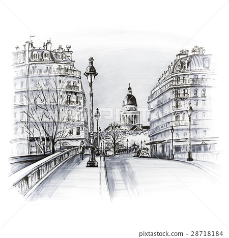 Paris in the winter morning, France 28718184