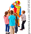 Childrens party entertainers. Birthday child clown 28719535